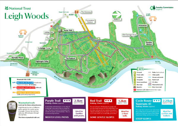 Leigh Woods Map